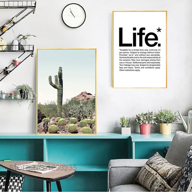 Cuadros Decoracion Cactus Nordic Poster Posters And Prints Wall Art ...