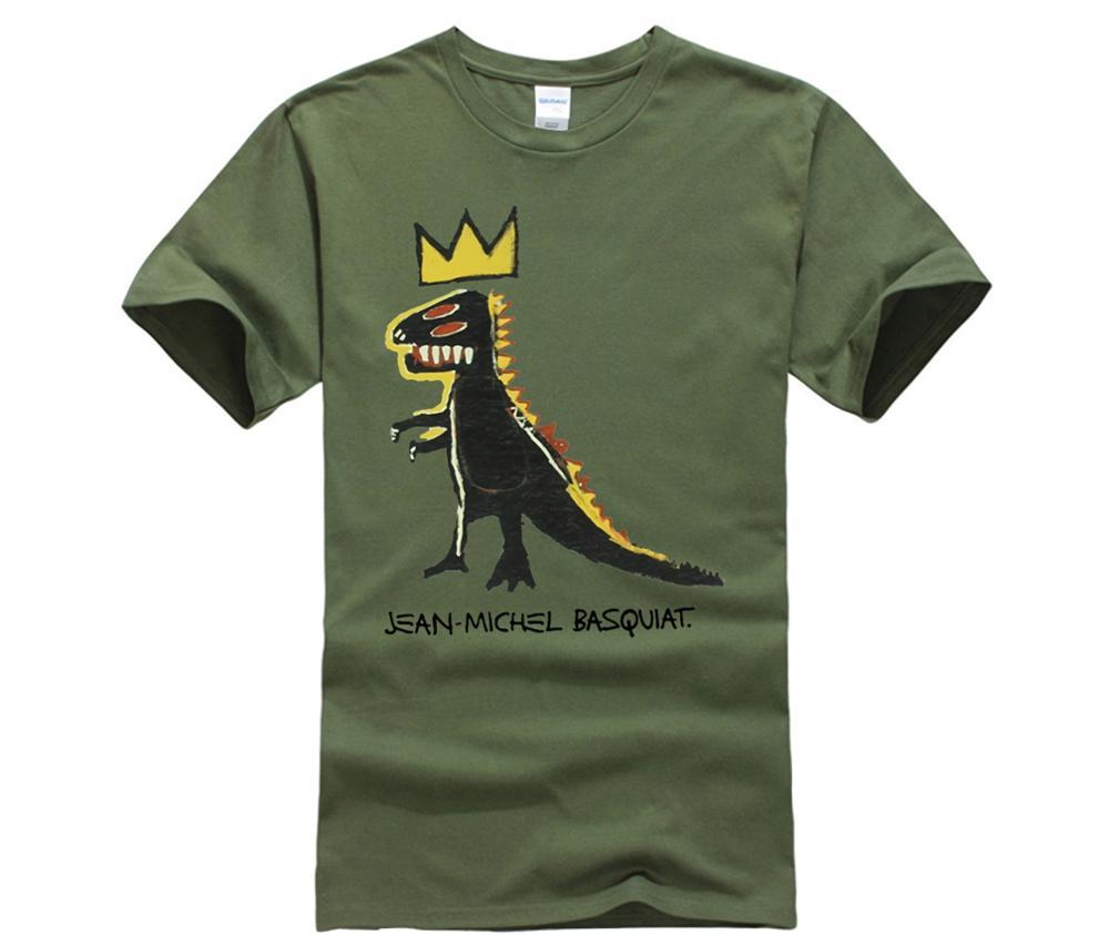 US $9 23 23% OFF|Gildan Jean Michel Basquiat Men's Art Screenprint Famous  Paintings T Shirt-in T-Shirts from Men's Clothing on Aliexpress com |