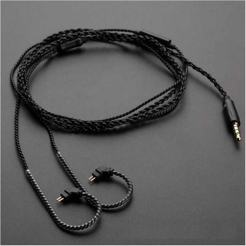 TRN wymiana słuchawki kabel 2Pin ulepszony kabel skorzystaj z z mikrofonem dla TRN V10 TRN V20 KZ ZS6 ZST KZ ZSR RT-1 TFZ KZ ZS10 uniwersalny