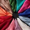 2016 Luxo Solier Cachecol Cor Xale Simples Moda Hijabs Muçulmanos Lenços Florais Lenço De Linho De Algodão Agradável Venda Quente