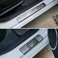 Aço inoxidável do peitoril da porta da placa do scuff 4 pçs/set acessórios do carro Para KIA k2 RIO sedan hatchback 2010 2011 2012 2013 2014