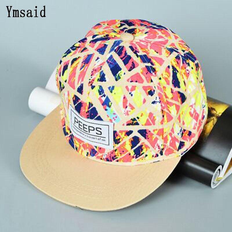 2019 New Fashion PEEPS   Baseball     Cap   Snapback Flat Brim Hat Street Dance Gift Hip Hop Hats for Men and Women