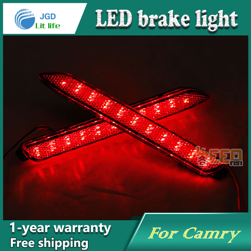 Car Styling Rear Bumper LED Brake Lights Warning Lights case For Toyota Camry 2006-2013 Accessories Good Quality car front bumper mesh grille around trim racing grills 2013 2016 for ford ecosport quality stainless steel