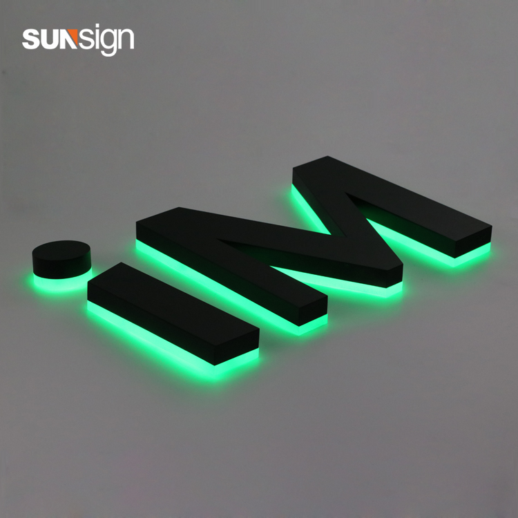 Waterproof Outdoor Use Halo Lit Sign Aluminum Letter
