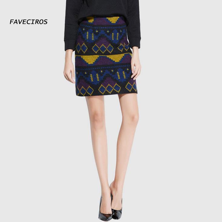 2016 Autumn and winter retro Our skirts high waist elastic skirt waist wool skirt package hip