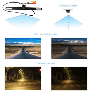 Image 5 - Car Rear Reverse License Plate Parking Rearview Backup Camera Universal
