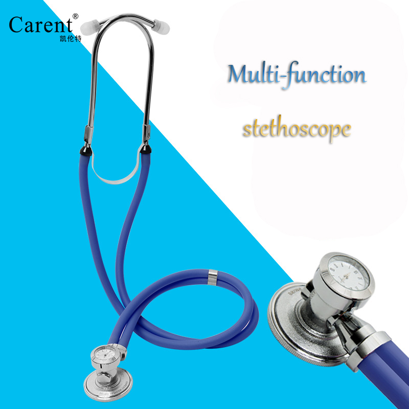 Carent Multi-function Medical Clock Stethoscope Clock Professional Doctor Stethoscope Bell Head Audible Fetal Heart Auscultation