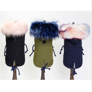 Image 4 - GLORIOUS KEK Winter Dog Clothes Luxury Faux Fur Collar Dog Coat for Small Dog Warm Windproof Pet Parka Fleece Lined Puppy Jacket