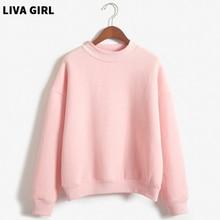 2018 Warm harajuku Fashion Sweatshirt Women Solid Turtleneck Long Sleeve Slim Hoodies Thick Loose Casual Pullover