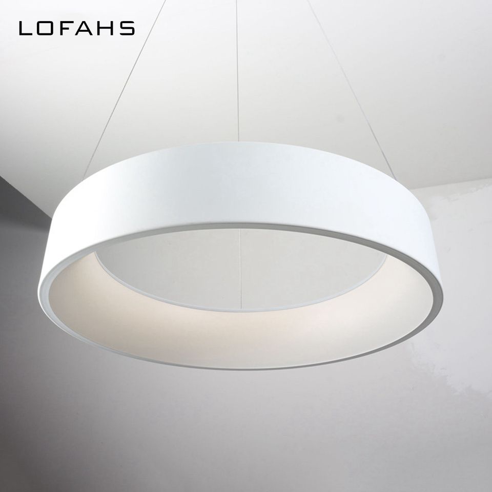 LOFAHS Round circles Chandeliers lamp hanging  aluminum LED Chandeliers lighting for bar dining table office meeting room