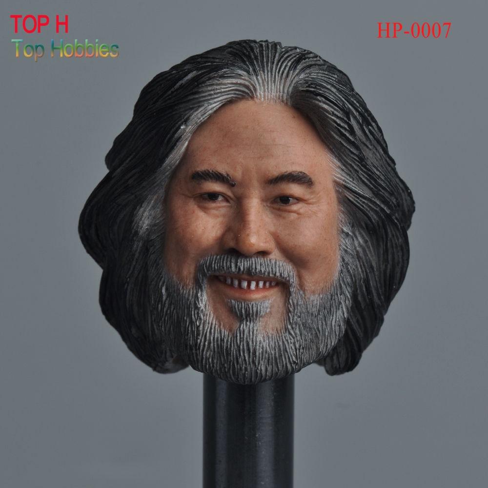 Head 1/6 Male Head Sculpt HP-0007 Jizhong Zhang Male Head Carving Model  Fit 12 Action Figure Doll Body Toys HP-0007 b06 08 1 6 scale male head accessories carving sculpt model fit 12 inch phicen action figure doll toys