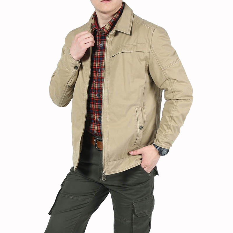 Chaqueta de primavera para hombre chaqueta Casual militar cuello vuelto Veste Homme sólido ocio abrigo hombre algodón ropa de abrigo tamaño m 3XL-in Chaquetas from Ropa de hombre    1