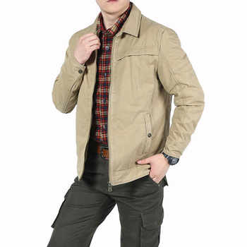 Spring Jacket Mens Jacket Coat Casual Military Turn-down Collar Veste Homme Solid Leisure Coat Male Cotton Outerwear Size M-3XL - Category 🛒 All Category