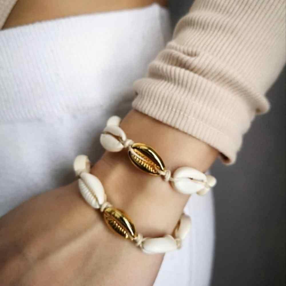Gorąca sprzedaż ręcznie powłoki wykonane z materiału ze stopu bransoletka regulowany Boho Macrame kobiet prezent bransoletki Strand sh-001