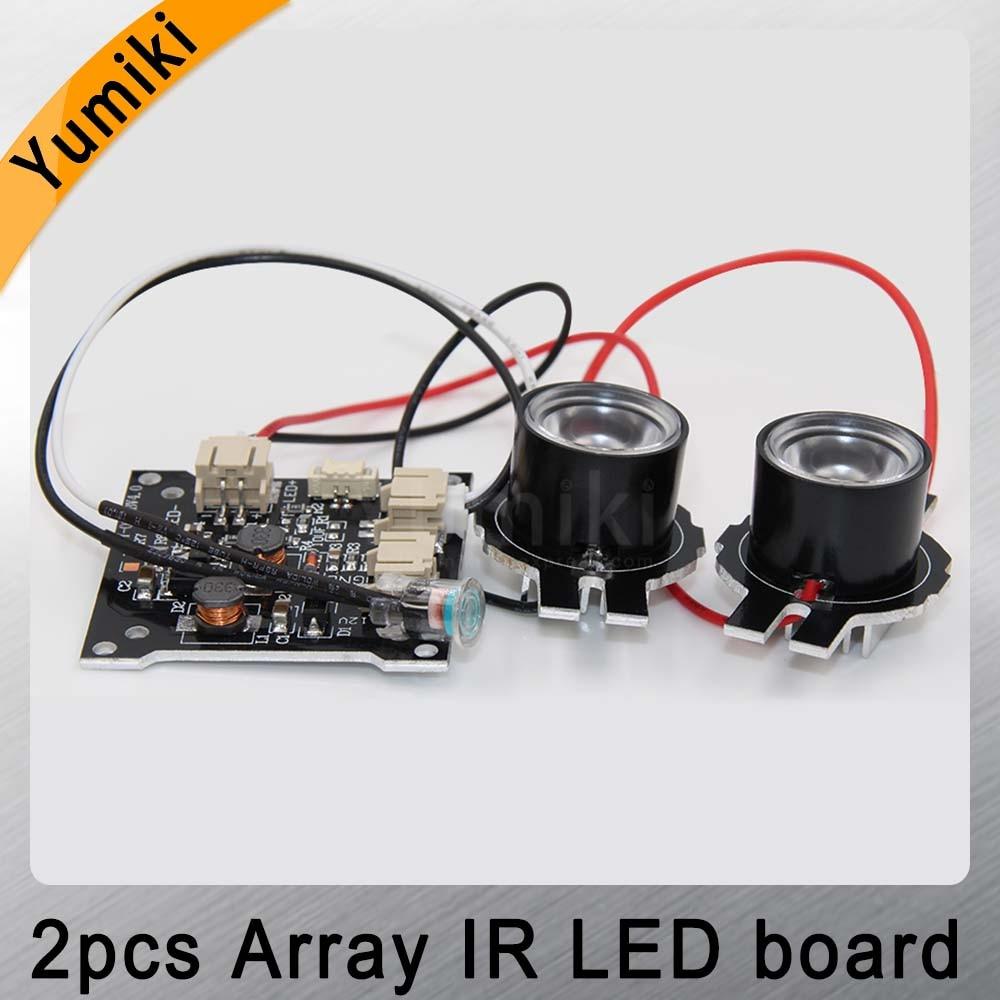 Yumiki Infrared Light 2 Pcs Array IR LED Board For Surveillance Camera Night Vision Diameter CCTV Accessories 30/45/60/90degree