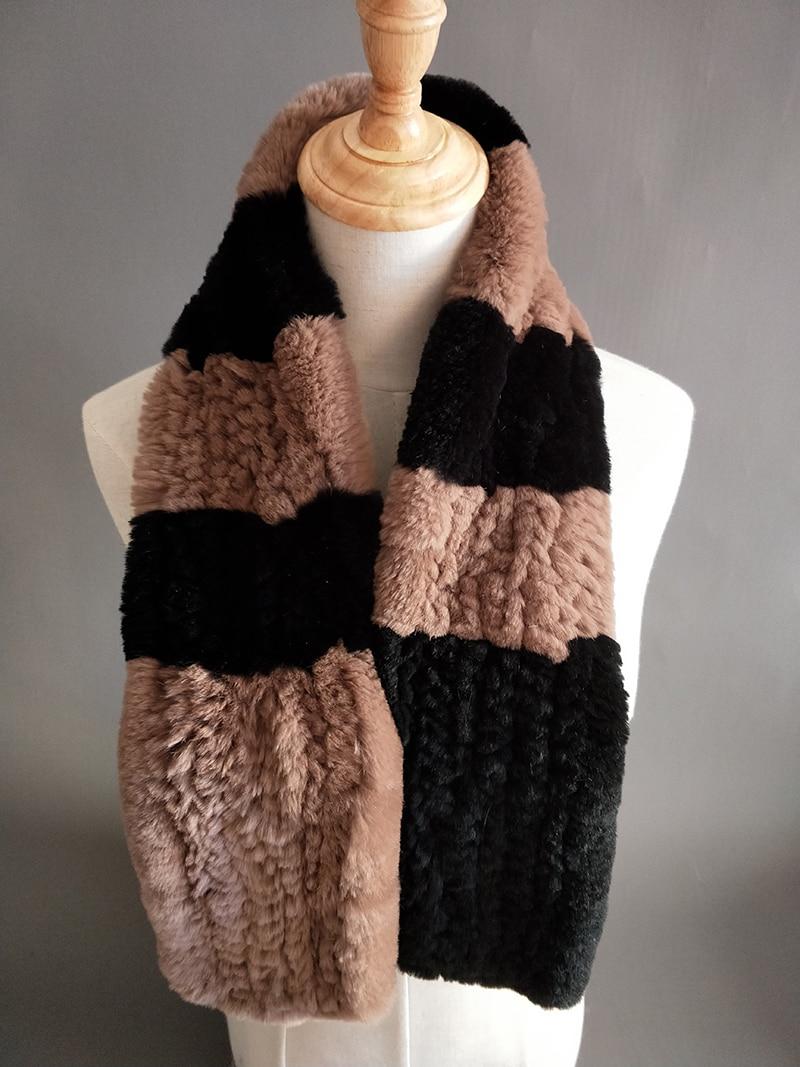Natural Fur Scarf Women Winter Real Rex Rabbit fur Scarves cachecol bufandas New arrival muffler thermal Soft (7)