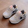 Novos meninos meninas malha sneakers crianças shoes respirável running shoes para crianças apartamentos calçados esportivos estrela moda casual sapato grande