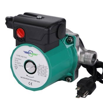 110-120V Stainless Steel Circulator Pump 3-Speed NPT 3/4''  Domestic Hot Water Circulation Pump