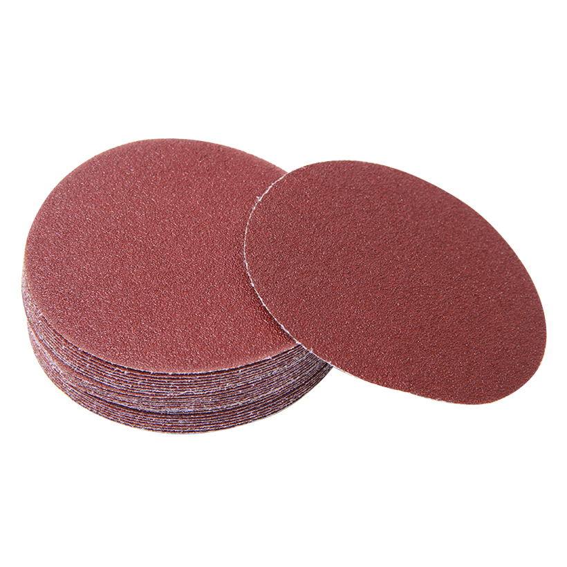 3pcs Polishing Sandpaper Disc Grit 80 Red Sand Sheets Flocking Round Sanding Paper 100mm 125mm 150mm 180mm 230mm Abrasive Tools
