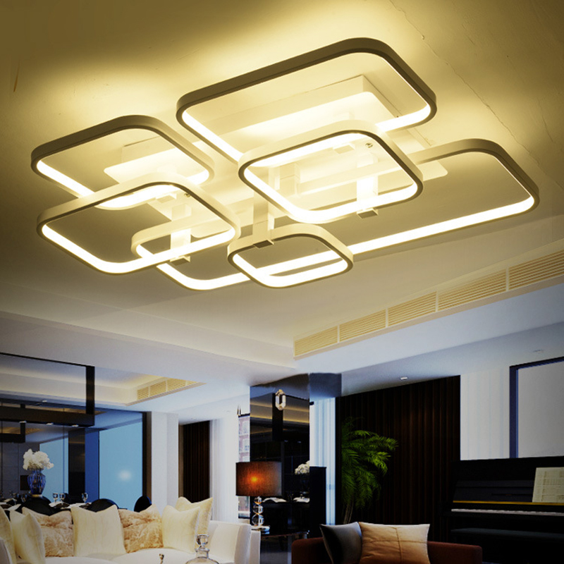 modern led living room led ceiling light lamparas de techo acrylic lamp bedroom ceiling lamps. Black Bedroom Furniture Sets. Home Design Ideas