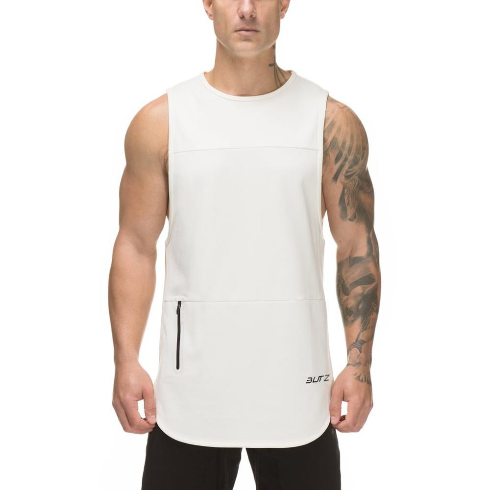2019 New Gyms Fitness Mens Sleeveless  Shirt Singlets Muscle Tank Tops Sleeveless Professional Bodybuilding Vests