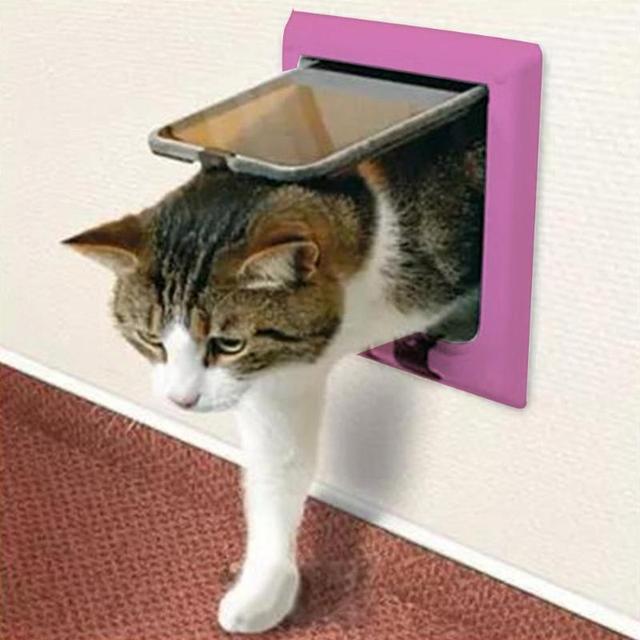 שימושי 3 גודל 4 דרכים לחיות מחמד חתול הניתן לנעילת דלת קיר שער מנעול בטוח קשה פלסטיק דש דלת מוצרים טיפול גור אבזר אספקה