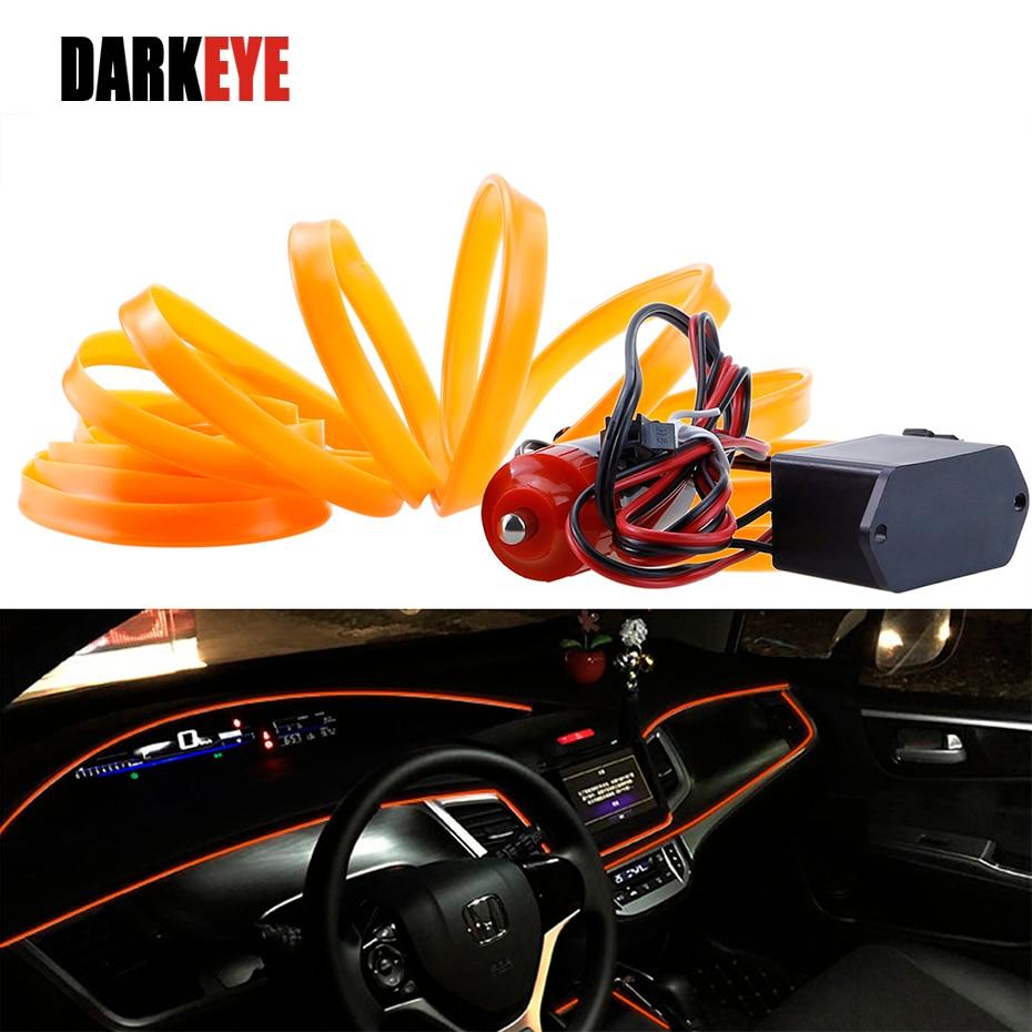 5M avtomobilska notranjost okrasno prelivanje prilagodljiv neonski - Dodatki za notranjost avtomobila - Fotografija 1