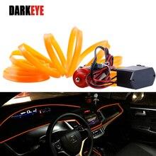 5 м украшение интерьера автомобиля литье гибкий неоновый свет контроллер авто для peugeot ford BMW Toyota AJ