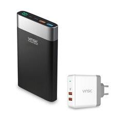 Vinsic 20000 mAh Banco de la Energía de Carga Rápida 3.0 QC 3.0 Dual USB Tipo C Externa Cargador de Batería Portátil Para iPhone Sumsung Xiaomi
