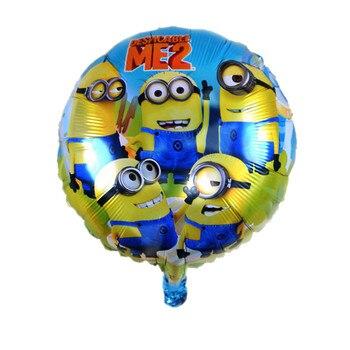 BINGTIAN air balls Minions balloons Despicable Me balon helium minion party decoration ballon printed снегокат snow moto minion despicable me yellow 37018