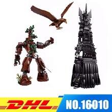 DHL Ajustement Pour 10237 LEPIN 16010 2430 Pcs Seigneur des Anneaux la Tour de Orthanc Modèle Kits de Construction Set Blocs Briques Jouets cadeau