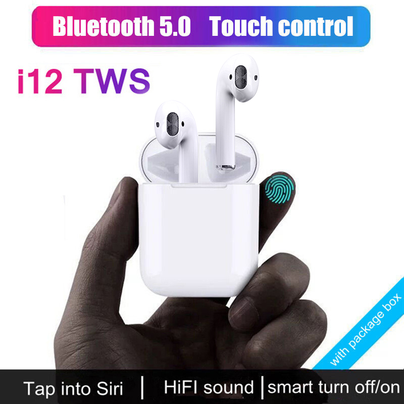 $28.10 HIFI Bluetooth Wireless Earphone Original i12 TWS Sport Headset For iPhone Stero In Ear Earphone For Xiaomi 9 Android VS I10 TWS
