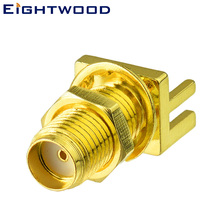 Eightwood 5PCS SMA Jack Female Socket End Launch Edge PCB Panel Mount Straight RF Coaxial Connector Adapter for Antenna Telecom