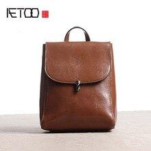 Aetoo Новинка 2017 Оригинальный кожаный рюкзак женский сумка на плечо кожа корейской версии прилив Простой Досуг школа ветер ретро