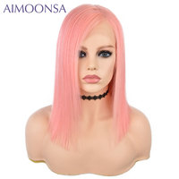 Light Pink Color Brazilian Non Remy Human Hair 13*6 Front Lace Wigs Density 150% Straight Human Hair Lace Wig With Baby Hair