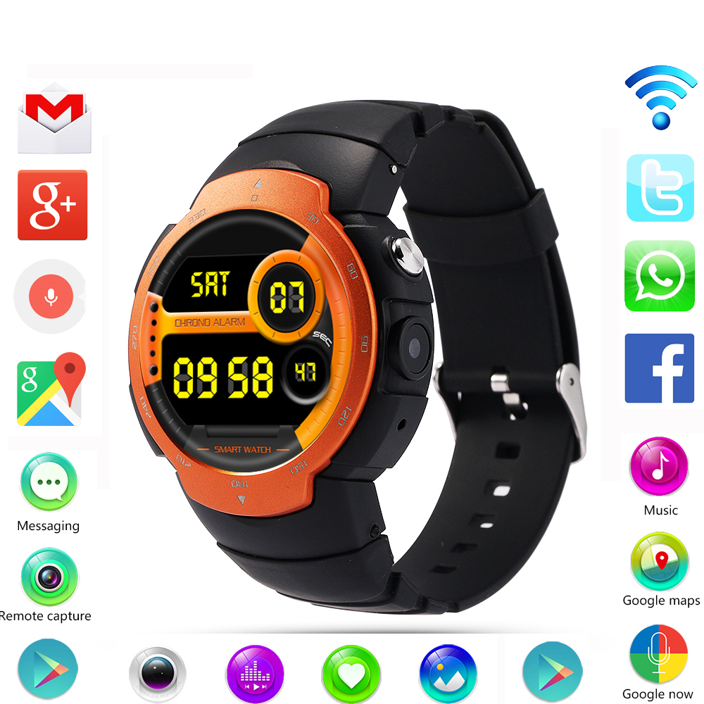 Newst LEM3 3G wifi Smart Watch phone Android 5.1 OS MTK6580 Quad Core smartwatch phone Support google map Heart Rate Monitoring no 1 d6 1 63 inch 3g smartwatch phone android 5 1 mtk6580 quad core 1 3ghz 1gb ram gps wifi bluetooth 4 0 heart rate monitoring
