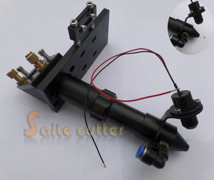Cabeça do laser de co2 ponteiro ponto vermelho módulo posicionamento integrative montagem conjunto 20mm lente espelho para gravação a laser e máquina corte