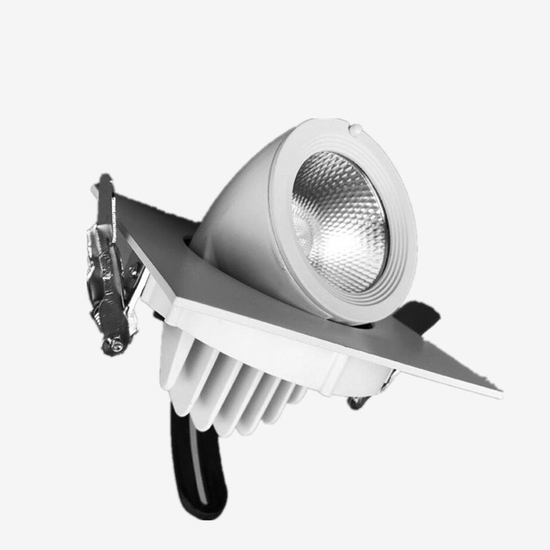 8pcs Square 10W 15W LED down light Dimmable LED Ceiling LED light AC85V 265V spotlights plafond recessed lamp Rotate 360 degree