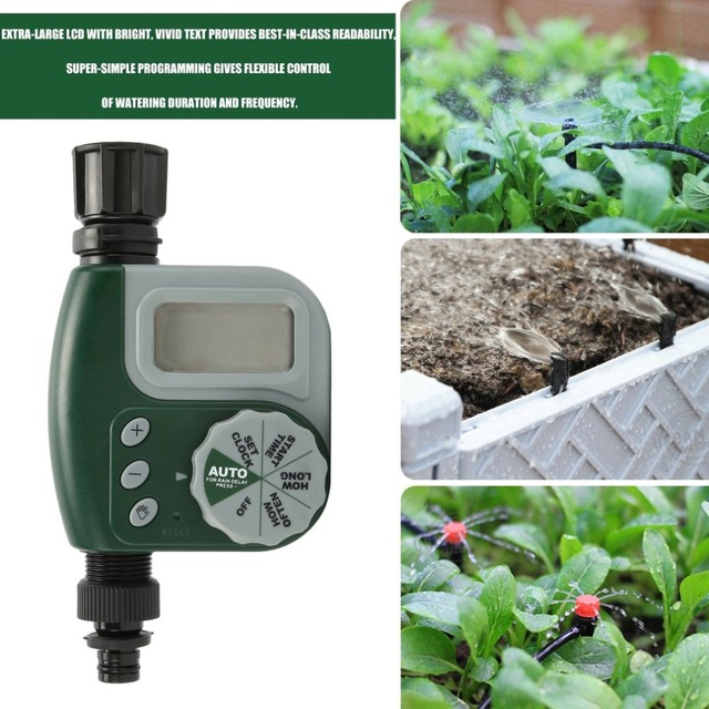 Home Ball Electronic LCD Display Garden Water Timer Smart Irrigation Controller Automatic Garden Watering System Accessories