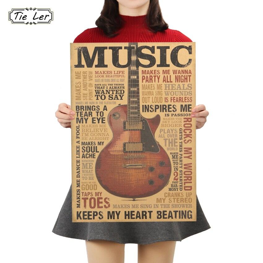 ler-musica-guitarra-um-cartaz-do-estilo-do-laCo-classico-nostalgico-do-vintage-kraft-papel-poster-quarto-sala-adesivo-de-parede