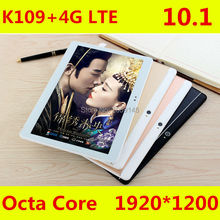 2017 Newest K109 4G LTE Android 6.0 10.1 inch tablet pc octa core 4GB RAM 64GB ROM 5MP IPS Tablets Phone 1920X1200 MT8752