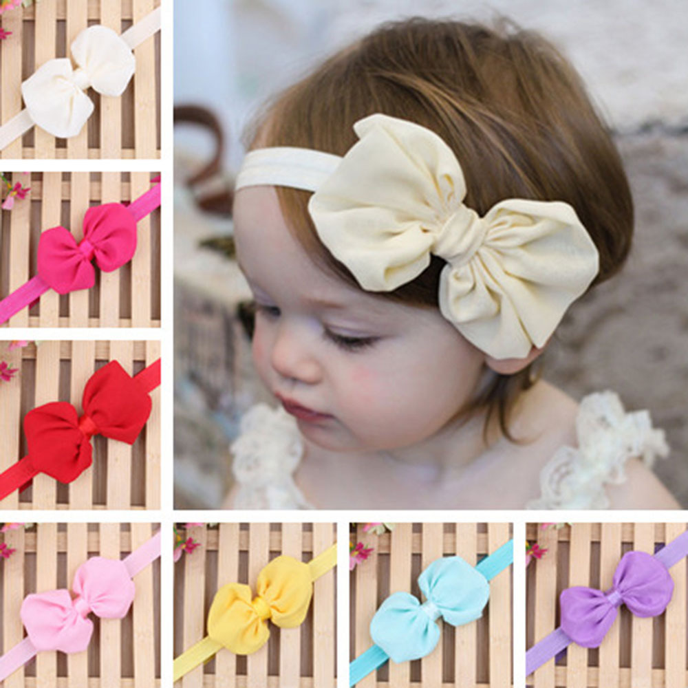 1PCS Kid Girl Baby Hair Band Infant Toddler Flower Bow Band Accessories Headband