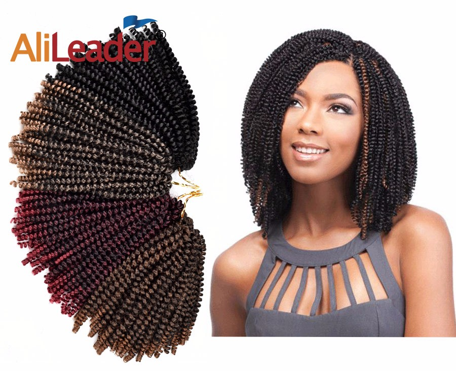 Alileader 8 Spring Twist Braiding Hair Synthetic Crochet Hair