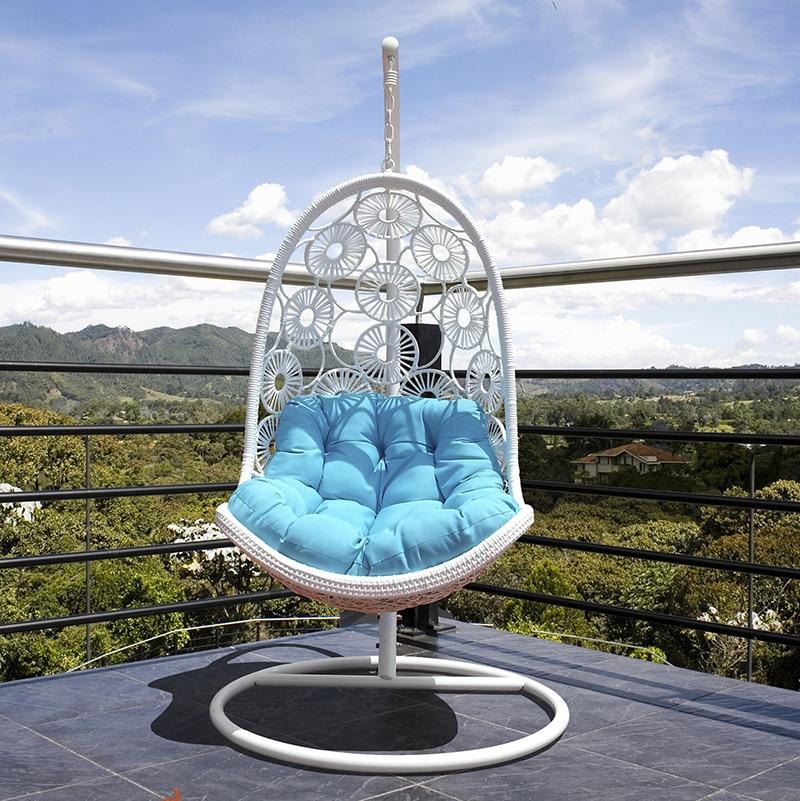 Basket wicker chair outdoor leisure indoor balcony hanging ...