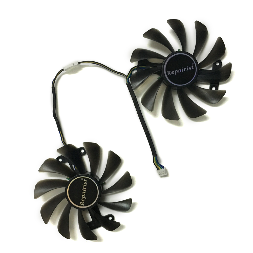 2pcs/set Video cards fan GTX1070/1080 GPU Cooler For KFA2 GTX1070 Ti EX GTX 1080/1070 EXOC Graphics Card cooling as Replacement 2pcs computer vga gpu cooler fans dual rx580 graphics card fan for asus dual rx580 4g 8g asic bitcoin miner video cards cooling
