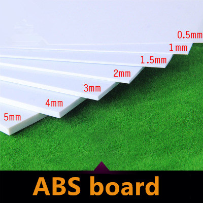 Wiking   ABS Thickness 200mm X 200mm ABS Styrene Sheets White NEW More Proportion