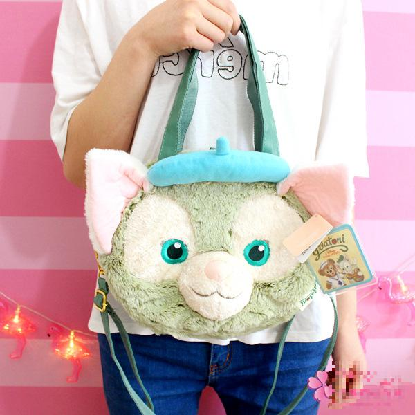 New Big Duffy Bear Friend Gelatoni Japanese Anime Plush Backpak Cute Cat Shoulder Bag Best Birthday Gifts