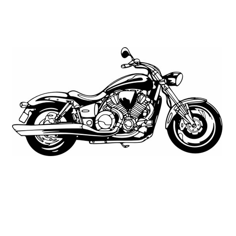DCTAL Heavy Motorcycle Sticker Vehicle Decal Classic Punk Posters Vinyl Wall Decals Autobike Decor Mural Autocycle Sticker
