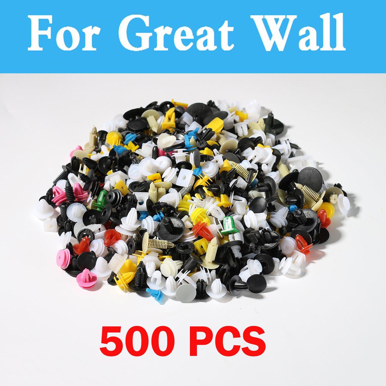 Neue 500 stücke Gemischt Auto Schmutzfänger Clips Retainer Nieten Für Great Wall H6 H3 Voleex Blumigen Schwebeflugs H5 C10 Voleex C30 Coolbear