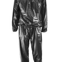 Сверхмощный Фитнес-костюм для похудения, пота, сауны, гимнастический костюм, анти-Рип, черный L-4XL